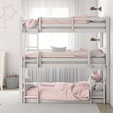 Bunk bed with stairs and slide Big Avenue Greene Nola Triple Floor Bunk Bed Overstock Buy Bunk Bed Kids Toddler Beds Online At Overstockcom Our Best