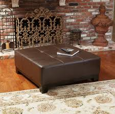 round leather ottoman. Top 42 Outstanding Square Leather Ottoman Coffee Table Round Small O