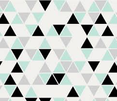 Double scale triangles, cool mint, black and gray fabric by trizzuto on  Spoonflower -