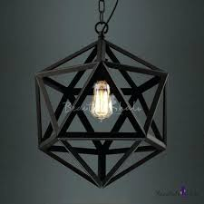 pendant cage light star of black finished cage industrial suspension led pendant light black diamond cage