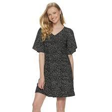Womens Apt 9 Flutter Sleeve Voop Dress Size Medium