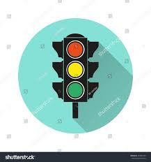 Graphic Traffic Light Traffic Light Vector Icon Illustration Isolated Stock Vector