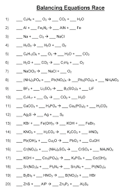 balancing chemical equations chemistry difficult worksheet