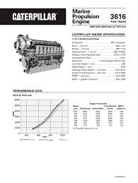 cat mhp propulsion spec sheets caterpillar marine cat 3616 8158 mhp propulsion spec sheets 1 4 pages