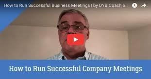 how to run successful company meetings