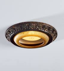 Decorative Rings For Recessed Lighting Acanthus Leaves Decorative Bronze Recessed Light Cap Ring