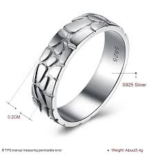Buy <b>PTE S925 Sterling Silver</b> World Cup football print Silver Ring ...