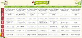Diet Chart For Adults Diet Chart Conquer
