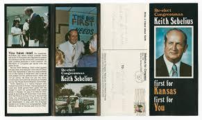 Campaign Brochure Campaign Brochure For Congressman Keith Sebelius
