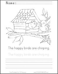 166e5ea24c558abf01e8364617ef1b0d handwriting practice the happy 77 best images about kindergarten on pinterest coloring pages on sentence development worksheets