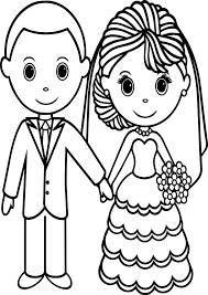 Small Picture Wedding Couple Coloring Pages Wecoloringpage