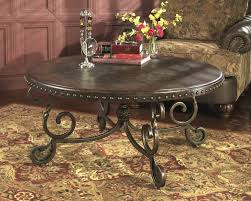 ramona coffee table 8 old world round with metal base main image christopher knight home glass