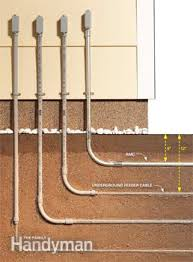 electrical wiring how to run power anywhere the family handyman conduit depth verses plastic cable depth