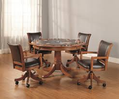 dining table and chairs with casters dining room chairs casters home decorating ideas
