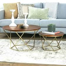 mercury glass coffee table side tables wood 2 piece set and