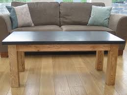 excellent slate and oak coffee table grasi notonthehighstreet inside slate top coffee table popular
