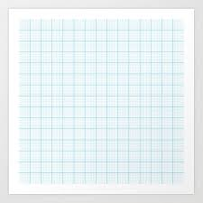 Graph Papper Graph Paper Art Print By Maorisakai