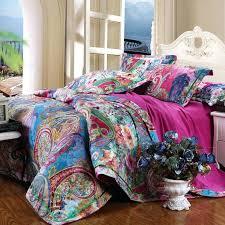 Aliexpresscom Buy 2015 New Brushed Cotton Bohemian Comforter ... & ... Bohemian Bed Quilts Bohemian Bed Comforter Sets Bohemian Bed Comforters  Colorful And Bohemian Garden Images Peony ... Adamdwight.com