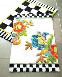 mackenzie childs rugs rug courtly check floor mat x fish poppy bath kitchen outdoor mackenzie childs rugs
