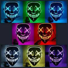 Led Light Up Mask Purge Amazon Com Ginkago Led Light Up Mask Party Mask The Purge