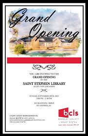 Grand Opening Flyer Interesting StStephenGrandOpeningInvitationforweb Berkeley County