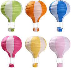 Hot Air Balloon Paper Lanterns for Wedding Birthday Engagement Christmas  Party Decoration Stripe Set Pack of 6 - - Amazon.com