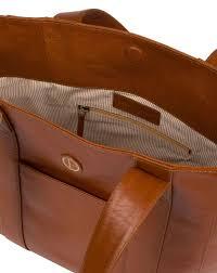 cranbrook vintage dark tan leather tote bag