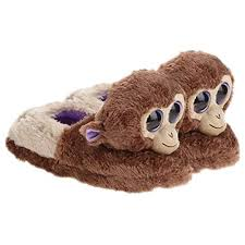 Beanie Boo Slippers Size Chart Ty Beanie Boo Girls Coconut Monkey Slippers