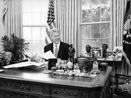 west wing oval office. The Working West Wing: President Clinton In Oval Office - White House Historical Association Wing