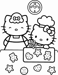 Hello kitty coloring pages for kids. Hello Kitty Coloring Pages Cartoons Hello Kitty Christmas Cookies Printable 2020 3231 Coloring4free Coloring4free Com