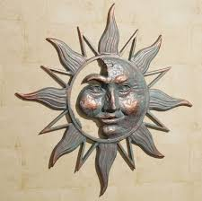 >outdoor sun wall art turbid fo classy idea outdoor sun wall art small home decoration ideas half face metal decor natural stones