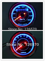 aliexpress com buy 12v easy to install universal motorcycle led 12v easy to install universal motorcycle led backlight odometer tachometer speedometer speedo meter tacho 180