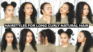 7 Easy Everyday Hairstyles For Long Natural Curly Hair Youtube