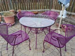 powder coated metal patio furniture table and chairs 2
