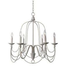 pannier 6 light white chandelier