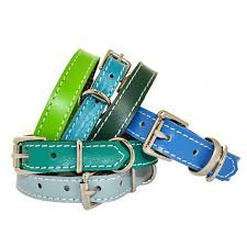 annrees classic leather dog collars