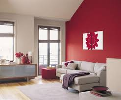 painting apartment wallsRed Box Dulux colour for feature wall with new painting