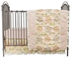 waverly rosewater glam 3 piece crib bedding set