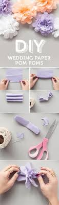 Pom Pom Decorations Diy Wedding Paper Pom Poms Wedding Paper Diy Decoration And Diy