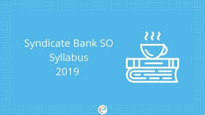 Syndicate Bank Syndicate Bank So Syllabus Pdf 2019 Download Syndicate