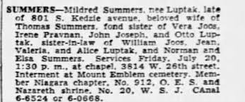 Obituary for Mildred SUMMERS - Newspapers.com