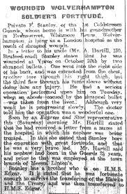 Frederick Stanley | Wolverhampton's War