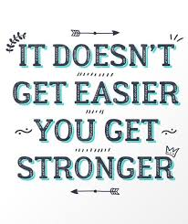 Stronger Quotes You Get Stronger Inspirational Quote Art Print Society100 words of 2