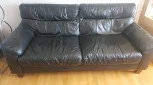 free black leather sofas in currie