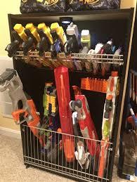 The easiest nerf gun storage wall for under $50. Nerf Gun Rack Diy Shefalitayal