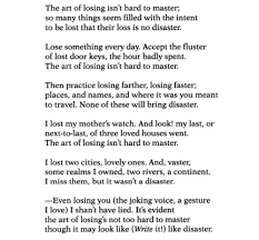 "elizabeth bishop ""one art"" a sea of quotes elizabeth bishop  elizabeth bishop ""one art"" a sea of quotes"