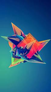 Abstract Colored Paper Diamond Shape L L L L L L
