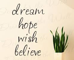 Dream Hope Quotes Best of Wall Decal Sticker Quote Vinyl Art Lettering Large Dream Hope Wish