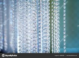 Deko Kristall Kronleuchter Hintergrund In Kalten Farben
