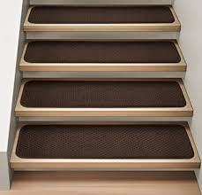 com set of 12 attachable indoor carpet stair treads within strips for stairs ideas 0